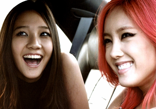 [Photo] Hyomin & Dani in Day by day MV BTS