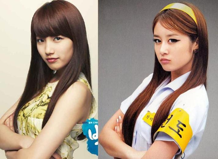 [Poll] Who looks best with this pose & cute experession? Suzy VS Jiyeon