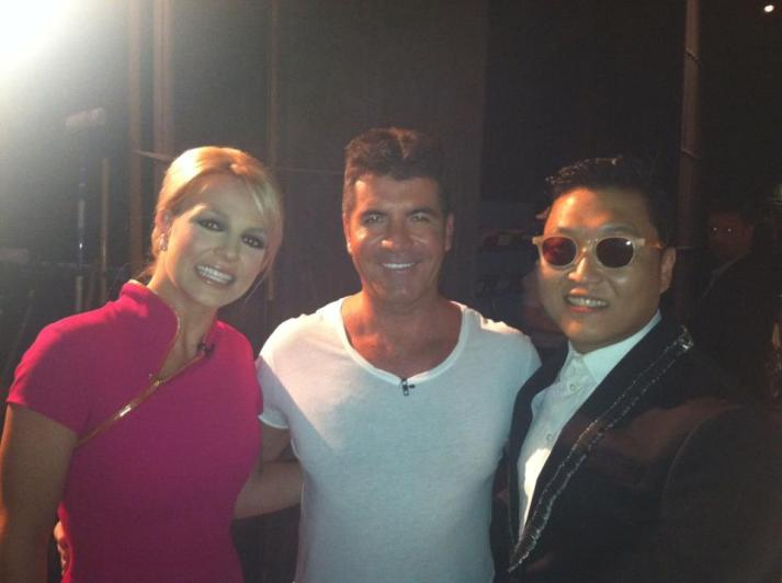 [Photo] PSY with Simon & Britney Spears