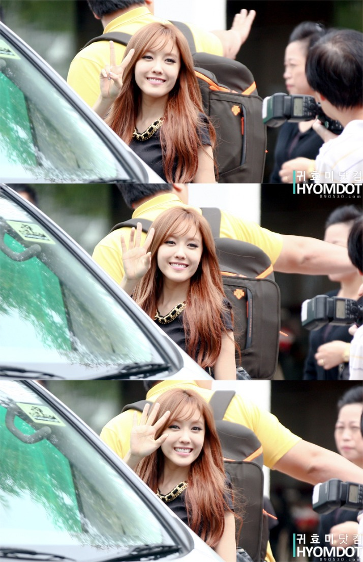 [Photo] 120918 Hyomin heading back from RHTK Interview