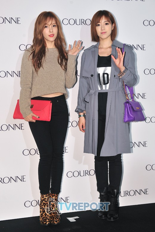 [Photo] 121023 Hyomin & Eunjung at COURONNE Opening Event