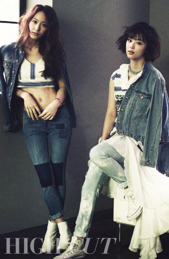 [PHOTO] Krystal & Sulli on Highcut Magazine January,2013